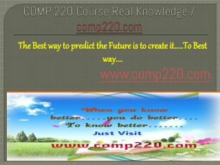 COMP 220 Course Real Knowledge / comp 220 dotcom