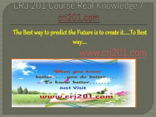 CRJ 201 Course Real Knowledge / crj 201 dotcom