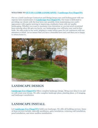Landscape Fox Chapel PA