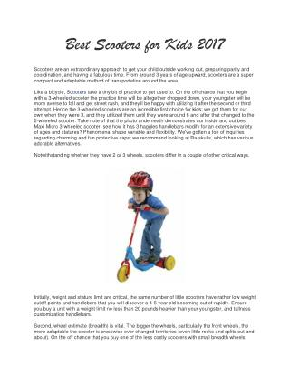 Best Kids Scooter Reviews