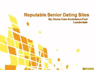 Reputable Senior Dating Sites