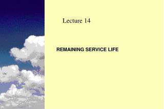 REMAINING SERVICE LIFE