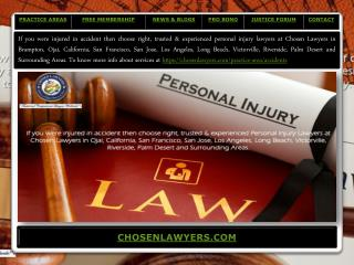 Presentation of chosenlawyers.com - 2017
