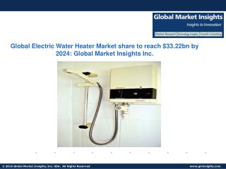 Electric Water Heater Market Report predicts size to grow at over 7.5% CAGR from 2016 to 2024
