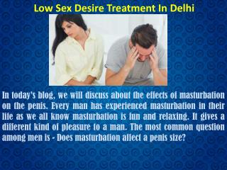 Low Sex Desire Treatment in Delhi