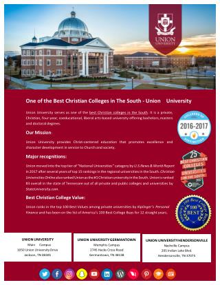 One of the Best Christian Colleges in The South - Union University