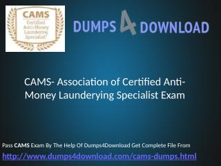 Free ACAMS CAMS Real Exam Questions Answers