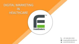Healthcare Digital Marketing – FrontEnders Healthcare Consulting
