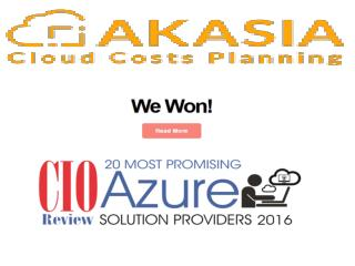 Akasia cloud cost planing