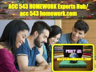ACC 543 HOMEWORK Experts Hub/ acc543homework.com