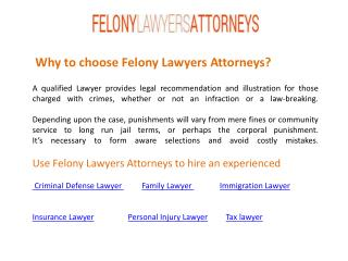 Felony Lawyers Attorneys for Any Legal Advice