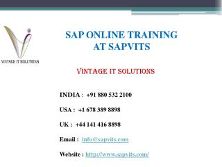 Online SAP Training | SAP Online Course with Certifications