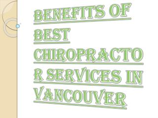 Natural Professional Chiropractor services in Vancouver
