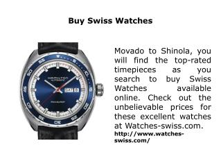 Buy Swiss Watches