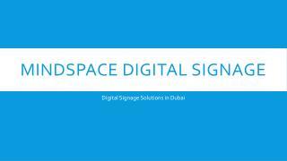Digital Signage Solutions in Dubai