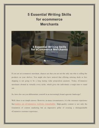 Five Essential Writing Skills for eCommerce Merchants