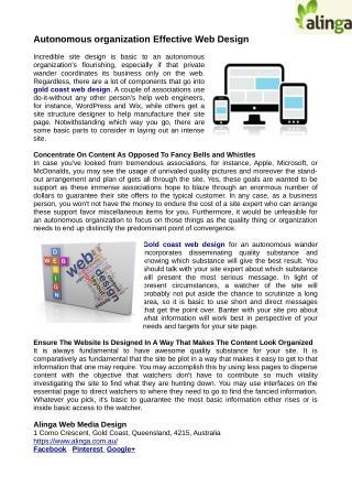 Self sufficient association effective web design