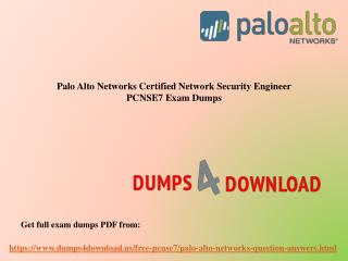 Get Verified Palo Alto PCNSE7 Exam Questions - PPT Slide