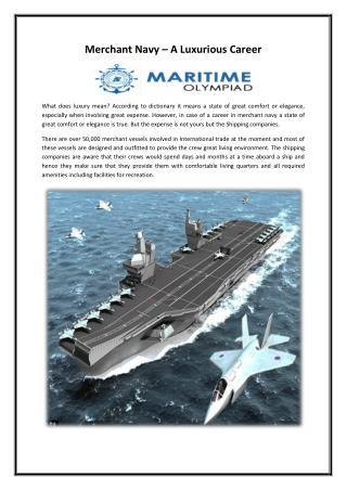 Merchant Navy – A Luxurious Career