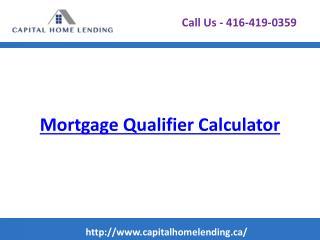 Mortgage Qualifier Calculator