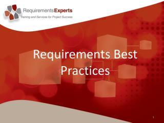 Requirements Best Practices