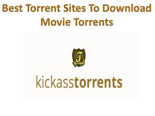 Download the Latest Movie Torrents