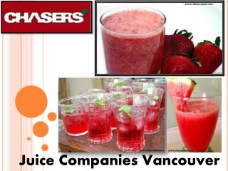 Fresh Juice Vancouver | Juice Companies Vancouver