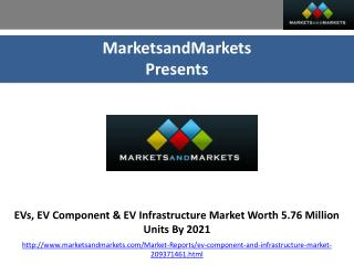 EVs, EV Component & EV Infrastructure Market worth 5.76 Million Units by 2021