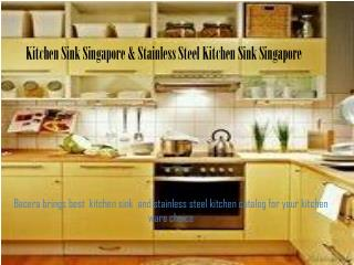 Stainless Steel Kitchen Sink Singapore | Kitchen Sink Singapore