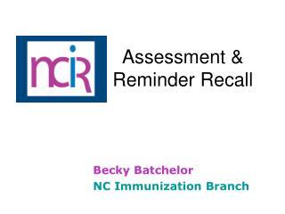 Assessment                             Reminder Recall