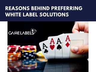 Reasons behind preferring White Label Solutions