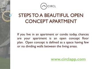 Four Steps To a Beautiful Open Concept Apartment | CIRCL
