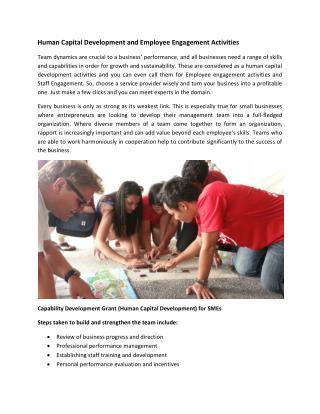 Human Capital Development and Employee Engagement Activities