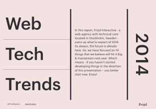 14 Web tech trends 2014