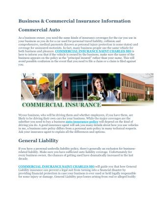 COMMERCIAL INSURANCE SAINT CHARLES MO