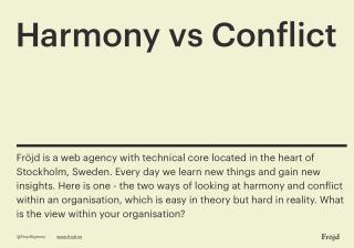 Harmony vs Conflict