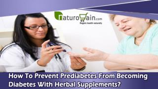 How To Prevent Prediabetes From Becoming Diabetes With Herbal Supplements?