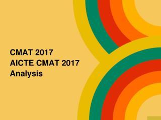 CMAT 2017 AICTE CMAT 2017  Analysis