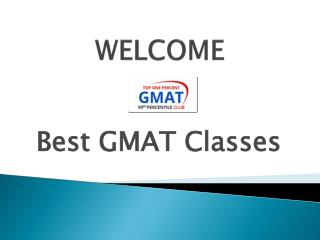 BEST GMAT CLASSES