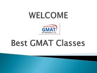 BEST GMAT CLASSES