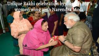 Unique Rakhi celebration by Gujarat BJP's women with Narendra Modi