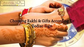 Choosing Rakhi and gifts according to zodiac sign