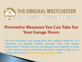 Preventive Measures You Can Take For Your Garage Doors