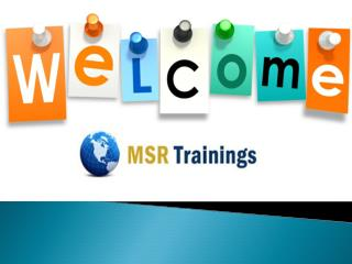 Selenium Online Training Weekend Demo Claases - msrtrainings