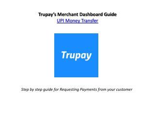 Request Money for Trupay UPI App