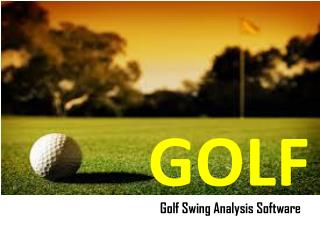 Golf Swing Analysis Software - Swing Profile