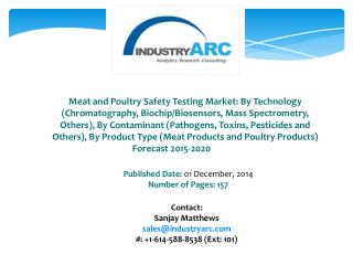 Meat and Poultry Safety Testing Market Driven By High Demand For Food Health And Safety