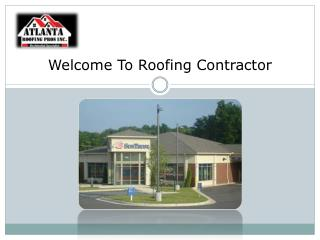 Welcome To Roofing Contractor