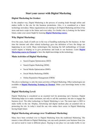 Digital Marketing Chennai