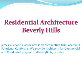 Residential Architecture Beverly Hills